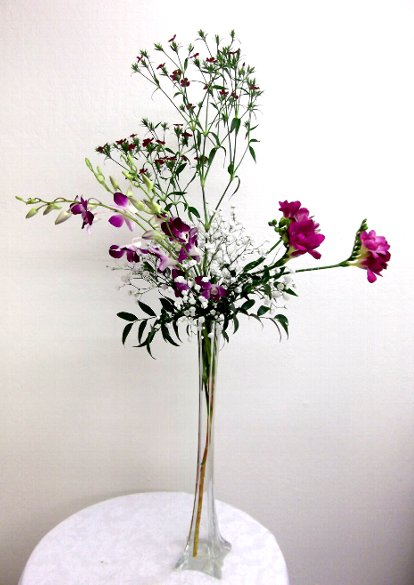 Enjoy Vertical Glass Container Arrangements California Flower Art