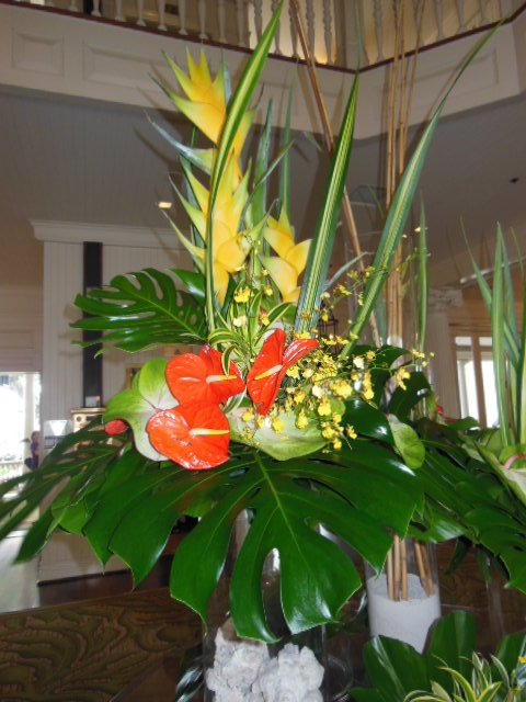 Large Scale Hotel Lobby Floral Arrangement California