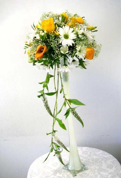 Enjoy Vertical Glass Container Arrangements California Flower Art