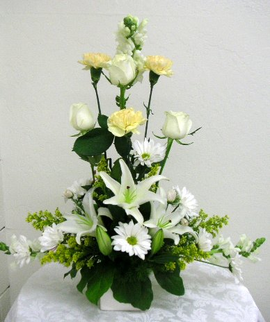 These Flower Arrangements Were Made By Our Students Under The Directions Of Instructor During Real Lessons In Clroom California Art