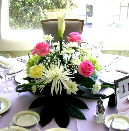 Easy Centerpiece For Wedding Flower Decoration   California Flower Art  Academy