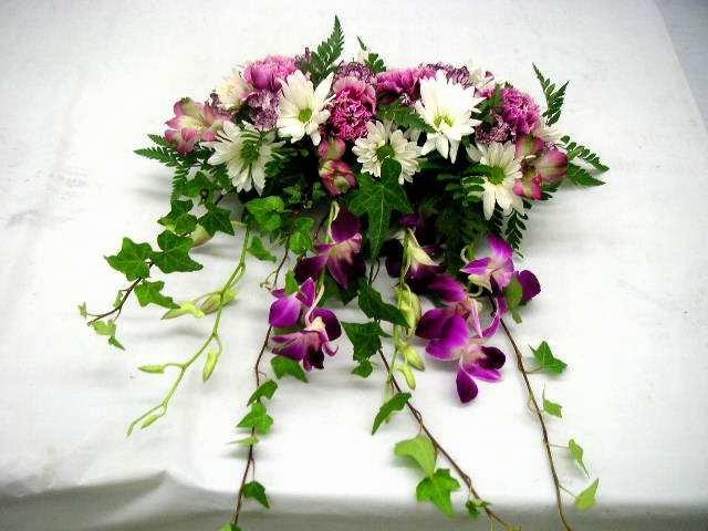 Wedding head table floral arrangement california flower art academy junglespirit Choice Image